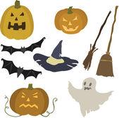 Vector illustration of various elements halloween — Stock Vector