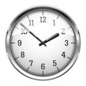 Realistic Wall Clock — Stock Vector
