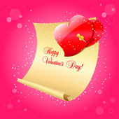 Valentines Day letter — Stock Vector