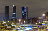 Four towers business area, Madrid — Stock Photo