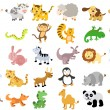 Stock Vector: Extra large set of animals