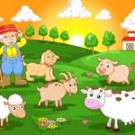 Happy farm — Stock Vector