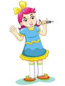 Music kid — Stock Vector