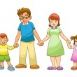 My family holding hand — Stock Photo