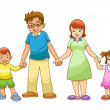 My family holding hand — Stock Photo #29971987