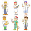 Doctor and Medical person cartoon set — Stock Photo #29972557