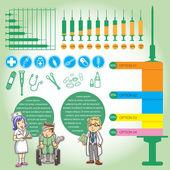 Info graphics medica cartoon — Stock Photo