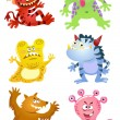 Set of funny cartoon monsters — Stock Photo