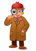 Detective boy — Stock Photo