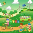 Children save our green world — Stock Photo