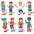 Set of cute cartoon kids. — Stock Photo #38592481