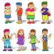 Set of cute cartoon kids. — Stock Photo #38592511