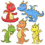 Dragon cartoon set — Stock Photo #51621975