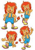 Lion cartoon set — 图库照片