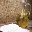 Carafe with oil — Stock Photo