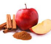 Apple with cinnamon. — Stock Photo