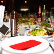 Festive table laid — Stock Photo
