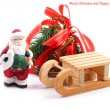 Christmas background with Santa Claus. — Stock Photo