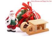 Fondo de Navidad con santa claus. — Foto de Stock