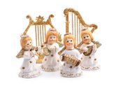 Figurines angels isolated. — Stock Photo