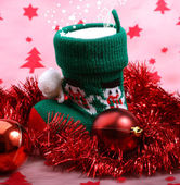 Christmas boot with gifts. — Stock Photo