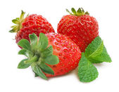 Ripe strawberry isolated. — Stock Photo