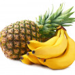 Pineapple and bananas. — Stock Photo