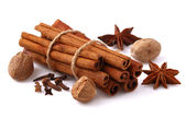 Cinnamon and star anise — Stock Photo
