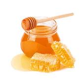 Sweet Honey and honeycomb — ストック写真