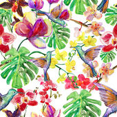 Seamless watercolor pattern. — Stock Photo