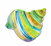 Seashell Isolated on White Background. watercolor — Photo