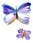 Delicate butterfly hand painted. — Stock Photo