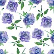 Seamless watercolor paintings. Abstract watercolor vintage hand painted backgrounds. blue flowers pattern. watercolor painting — Stock Photo