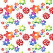 cogs colorful seamless pattern. watercolor — Stock Photo