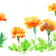 Watercolor background with flowers — Stock Photo #26502905