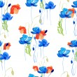 Abstract watercolor hand painted backgrounds with flowers. — Stock Photo
