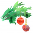 Christmas decoration elements. watercolor — Stock Photo #26503601