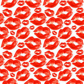 Seamless background. lips prints. watercolor. — Stock Photo