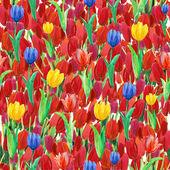 бесшовные обои весна с цветы тюльпаны — Стоковое фото
