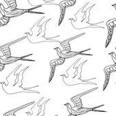 鳥とのシームレスなパターン — ストック写真