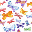 Seamless pattern with butterflies — Stock Photo
