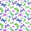Seamless pattern with butterflies — Stock Photo #28852433