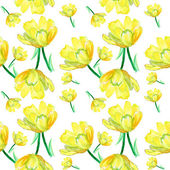 Seamless pattern,tropical flowers,watercolor floral — Stock Photo