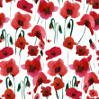 Stock Photo: Poppies Seamless Pattern
