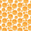 Watercolor pattern with oranges. — Stock Photo