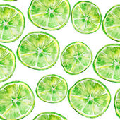 Background of heap fresh green lime slices. — Stock Photo