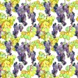 Watercolor Grape Seamless Pattern — Stock Photo