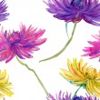 Watercolor Flowers Pattern. — Stock Photo