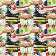 Seamless pattern with cake — Stock Photo