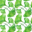 Ginkgo Seamless Pattern. — Stock Photo